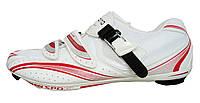 Велотуфли Shimano SH-R106 красно-белые шоссе Размер 43