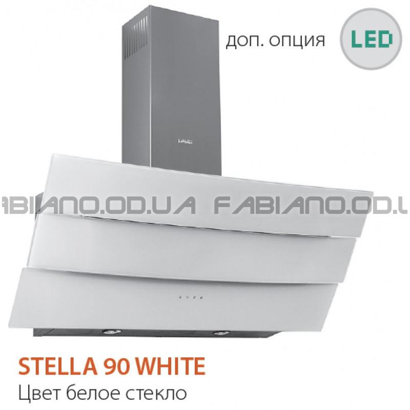 Наклонная вытяжка Fabiano Stella 90 White