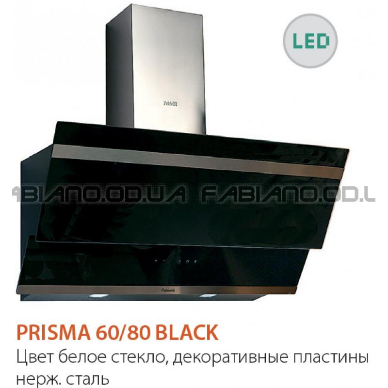 Наклонная вытяжка Fabiano Prisma 80 Black