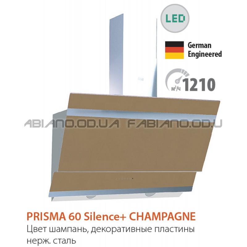 Наклонная бесшумная вытяжка Fabiano Prisma 60 Champagne Silence+