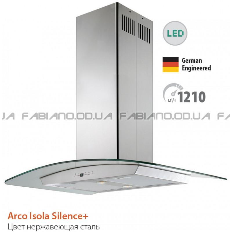 Островная бесшумная вытяжка Fabiano Arco Isola Inox Silence+