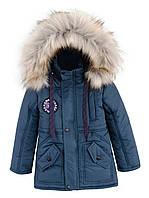 Зимняя куртка - парка на  мальчика. Размеры 104 - 146