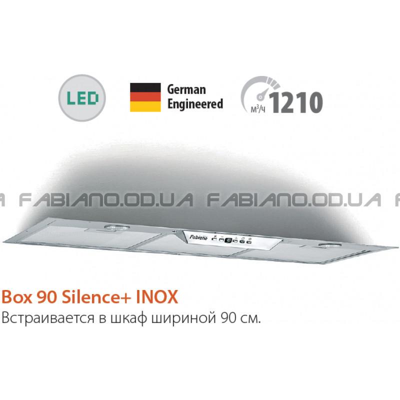 Встраиваемая бесшумная вытяжка Fabiano Box 90 Inox Silence+