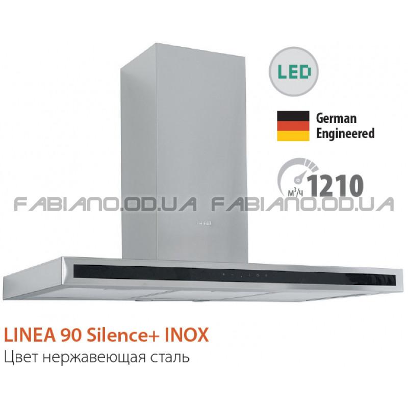 Декоративная бесшумная вытяжка Fabiano Linea 90 Inox Silence+