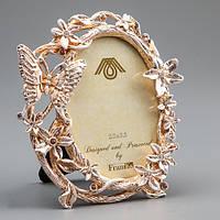 Angel Gifts Фоторамка «Бабочка в цветах» 10*11 см