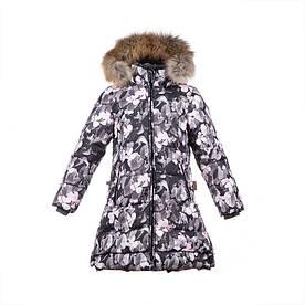 Зимнее пуховое пальто для девочки 10-12 лет р. 140-152 PARISH ТМ HUPPA 12470055-81020