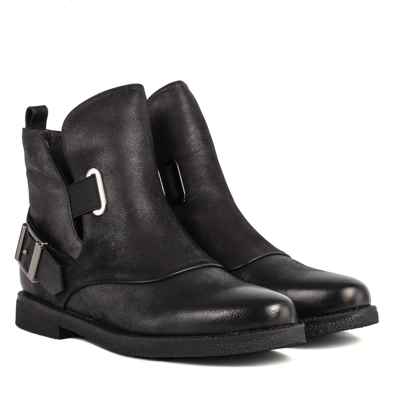 Ботинки женские Sufinna (черные, удобные, оригинальный дизайн)