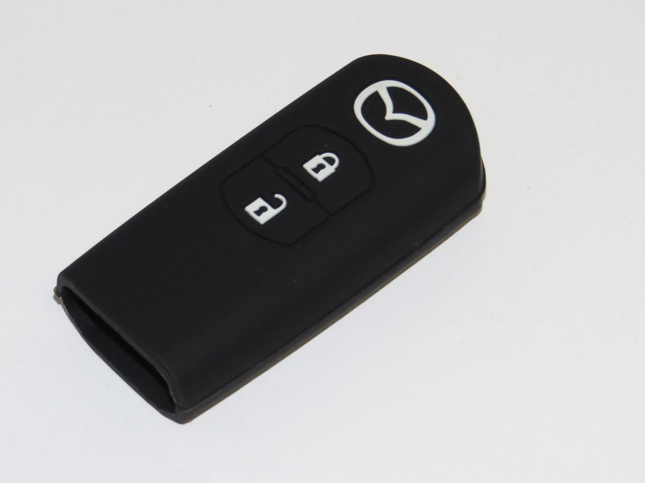 Чехол силиконовый для ключа зажигания Mazda V1. Чехольчик для ключа Мазда