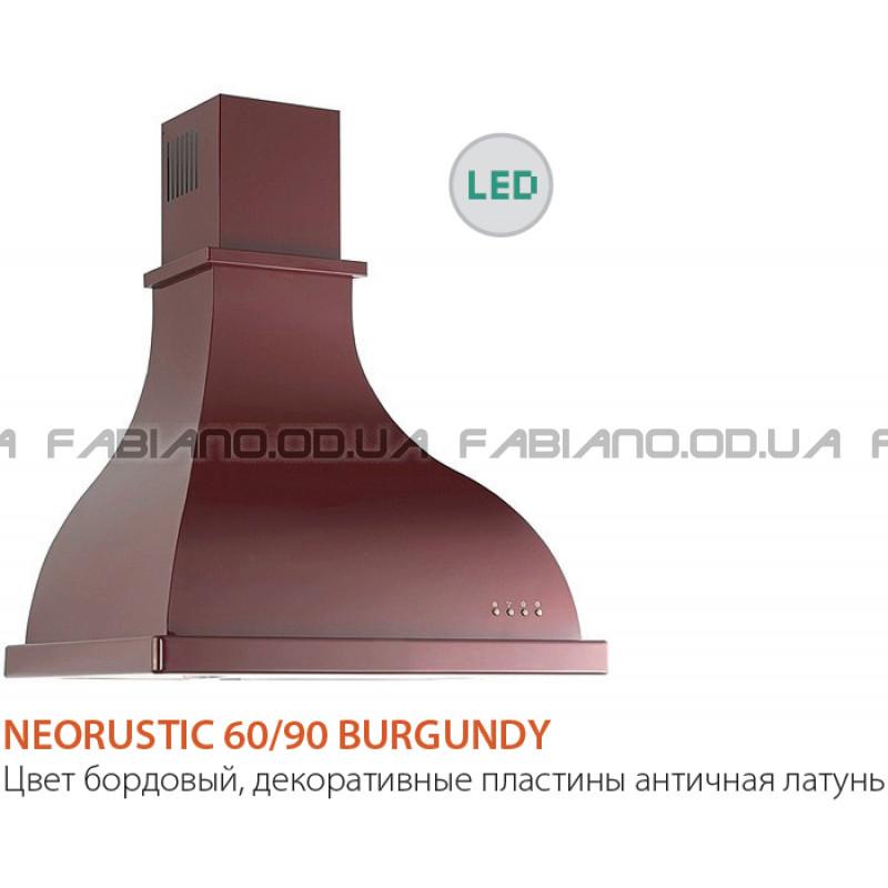 Купольная ретро вытяжка Fabiano NeoRustic 90 Burgundy
