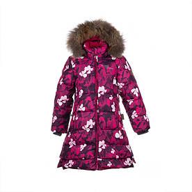 Зимнее пуховое пальто для девочки 6-10 лет р. 116-140 PARISH ТМ HUPPA 12470055-81063