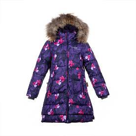 Зимнее пуховое пальто р. 116,122 для девочки 6, 7 лет PARISH ТМ HUPPA 12470055-81053