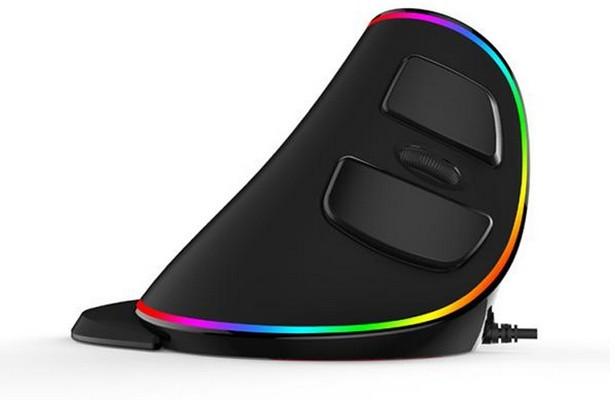Вертикальная проводная мышь Delux M618 Plus RGB