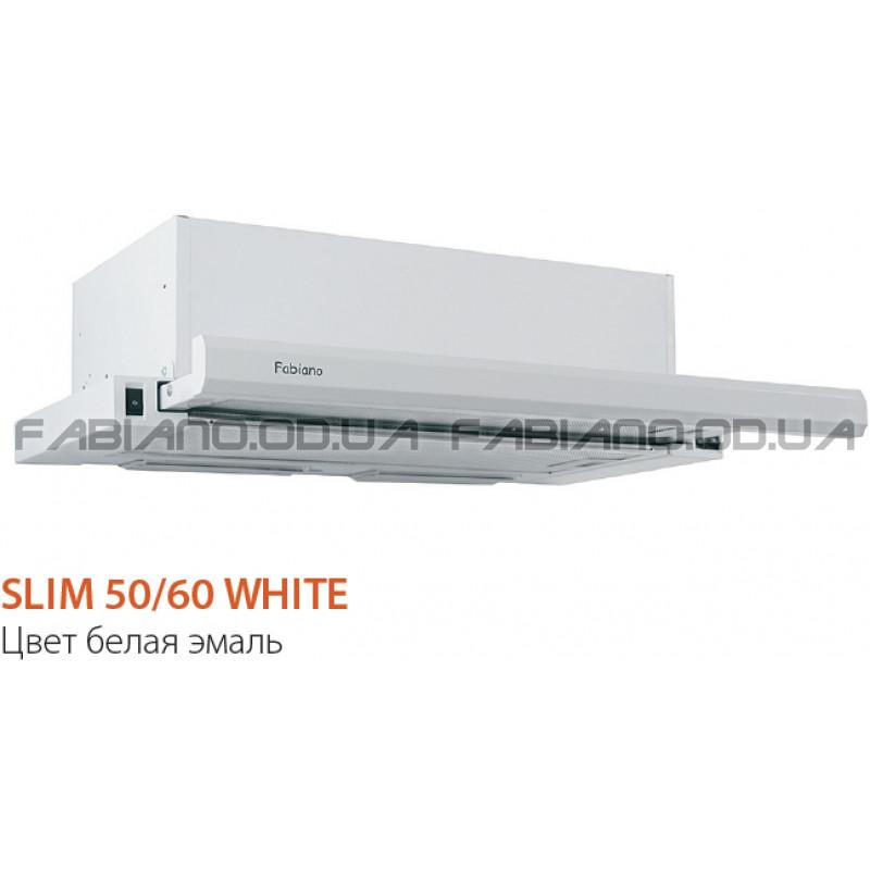 Телескопическая вытяжка Fabiano Slim 60 White