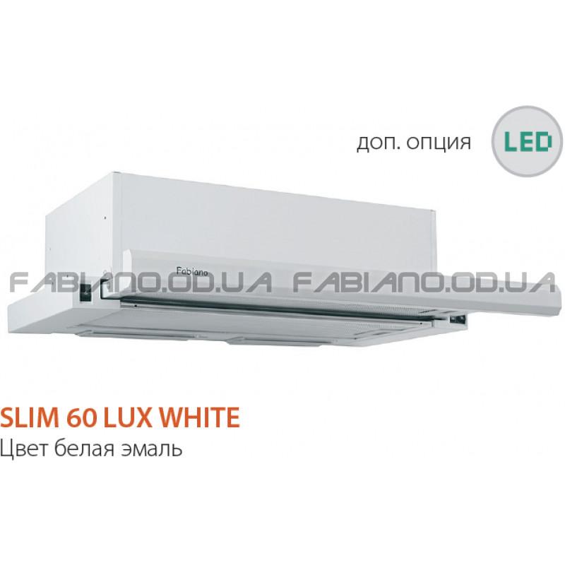 Телескопическая вытяжка Fabiano Slim 60 Lux White