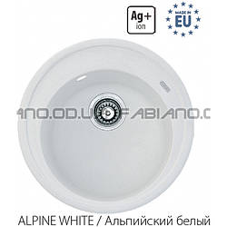 Гранитная мойка Fabiano ARC 51 Alpine White