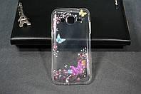 Чехол бампер силиконовый Samsung Galaxy J2 Duos J200 ( Самсунг ) с рисунком