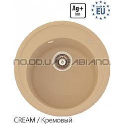 Гранитная мойка Fabiano ARC 51 Cream
