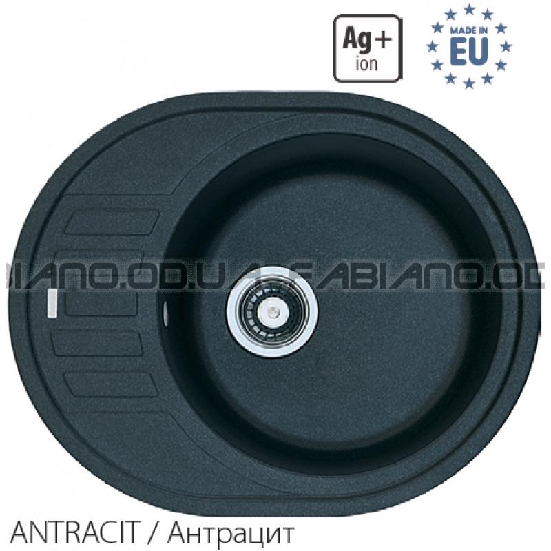Гранитная мойка Fabiano ARC 62x50 Antracit