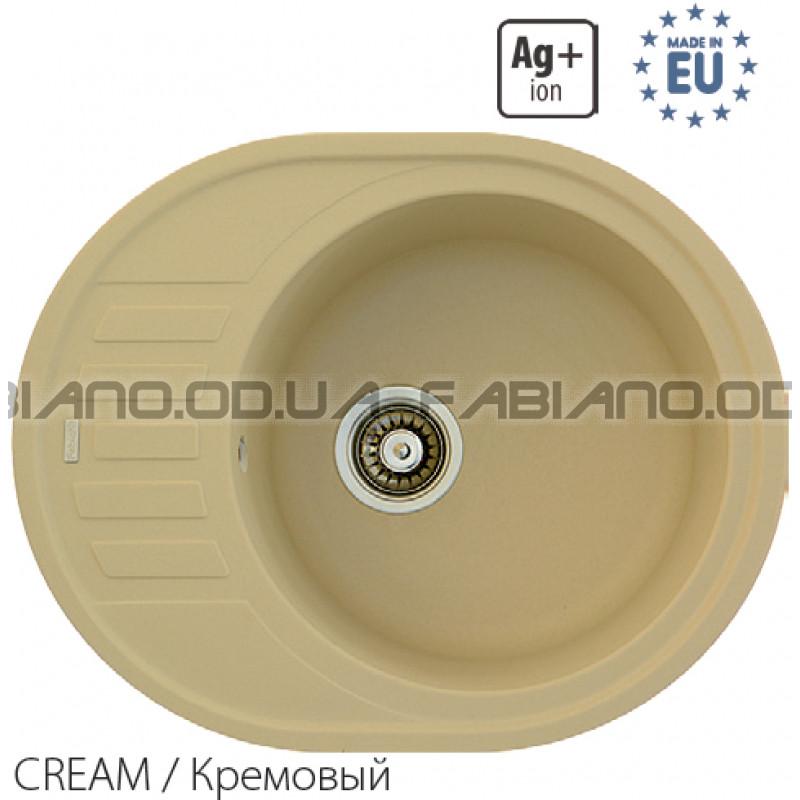 Гранитная мойка Fabiano ARC 62x50 Cream