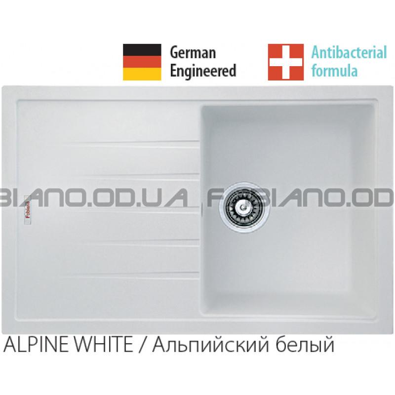 Гранитная мойка Fabiano Classic 78x50 Alpine White