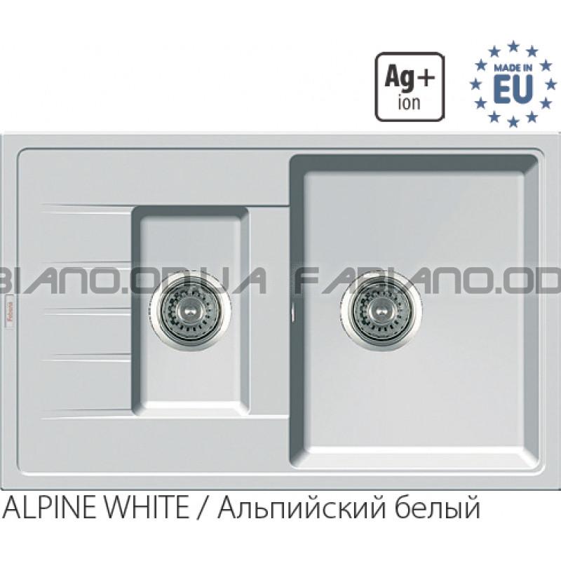 Гранитная мойка Fabiano Classic 78x50x15 Alpine White