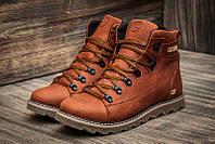 Мужские зимние кожаные ботинки CAT Expensive Fox (реплика), фото 1