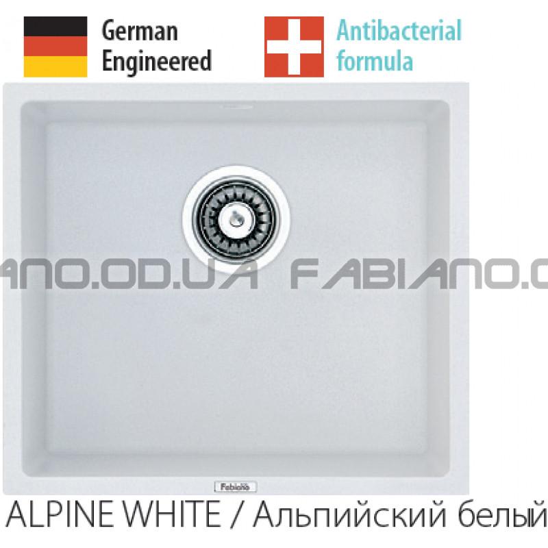 Гранитная мойка Fabiano Quadro 45x40 Alpine White