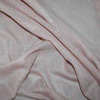 Лён тюль пепельно-розовая
