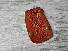 Ключница коричневая на карабинах
