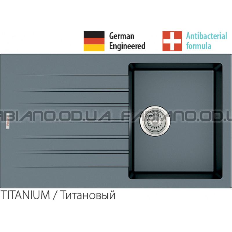 Гранитная мойка Fabiano Classic 86x50 Titanium