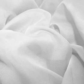 Шторный шифон Белый, вуаль