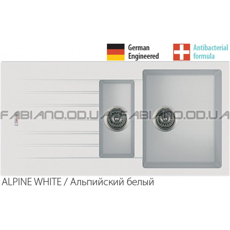 Гранитная мойка Fabiano Classic 100x50x15 Alpine White