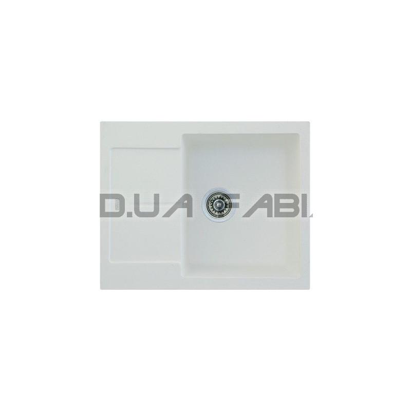 Гранитная мойка Fabiano Quadro 62x50 Alpine White