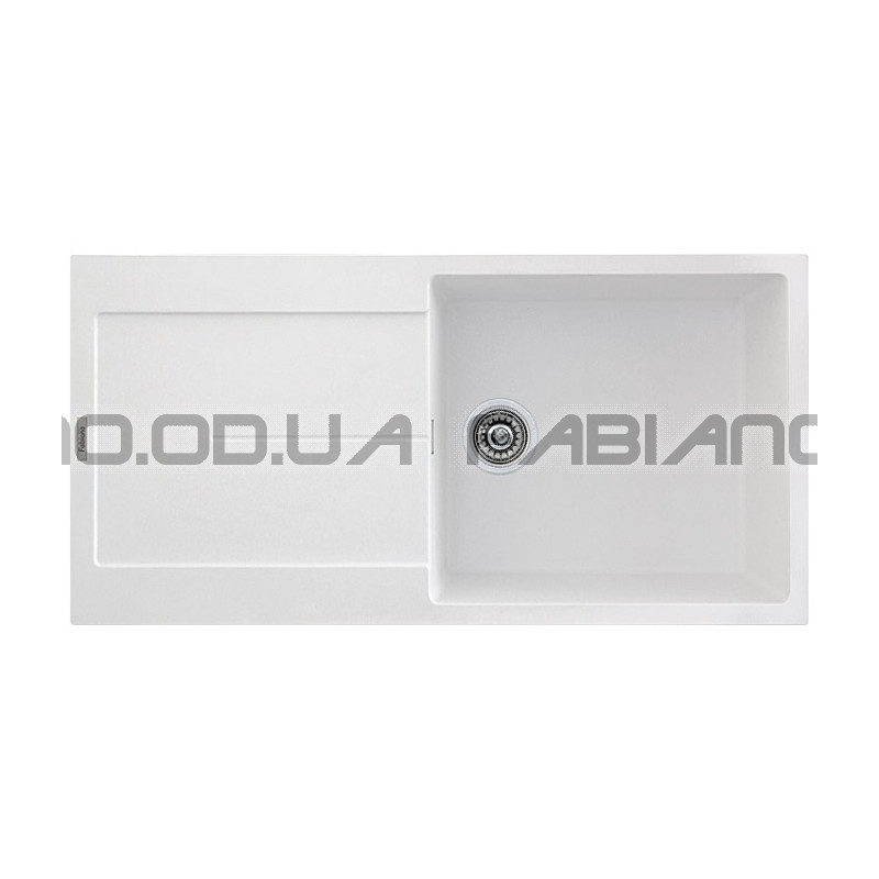 Гранитная мойка Fabiano Quadro 100x50 Alpine White