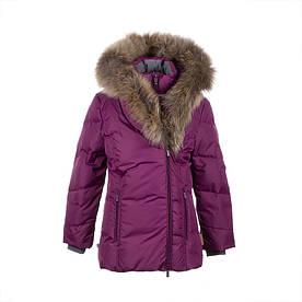 Зимняя пуховая куртка р.134, 146-164 для девочки 9, 11-16 лет ROYAL ТМ HUPPA 12480055-80034