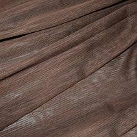 Лён тюль коричневая
