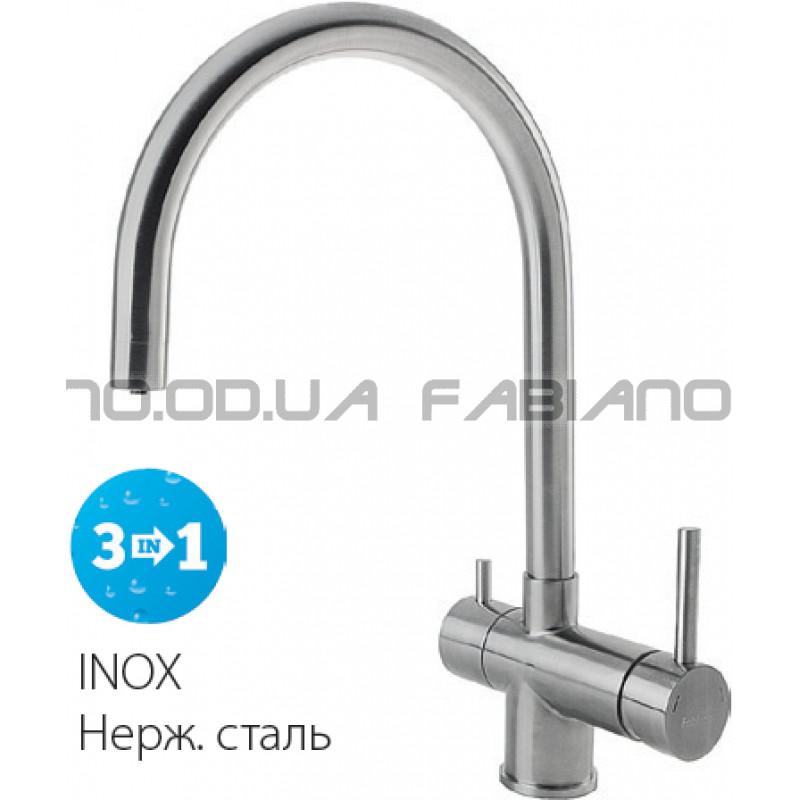 Смеситель Fabiano FKM 31.5 S/Steel Inox