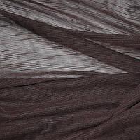 Лён тюль темно-коричневая