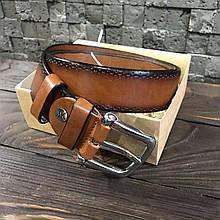 Ремень I&M Craft из натуральной кожи коричневый (R100102)