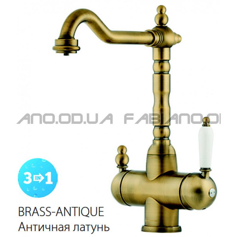 Ретро смеситель Fabiano FKM 31.8 Brass-Antique