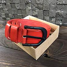 Ремень I&M Craft из натуральной кожи красный (R100103)