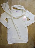 Кофта-туника з шарфом для девочки 4,6.8,10,12 лет.