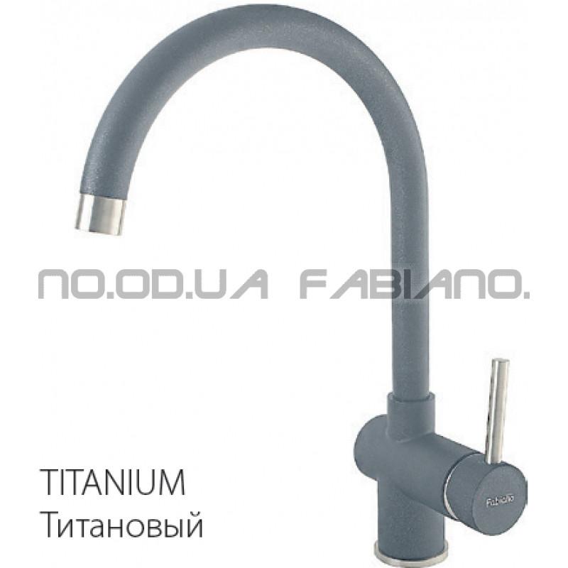 Гранитный смеситель Fabiano FKM 39 S/Steel Titanium