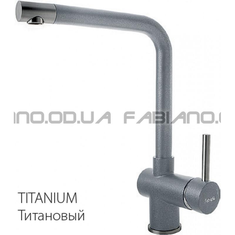 Гранитный смеситель Fabiano FKM 45 S/Steel Titanium