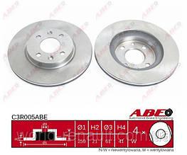 Тормозной диск передний на Renault Kangoo D=259мм/ ABE C3R005ABE