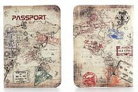 Обложка на паспорт Путешественника кожаная