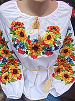 """Жіноча вишита сорочка """"польові квіти"""""""