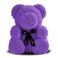 Мишка из Роз 70 см (Фиолетовый) 1550 шт. 3D Роз