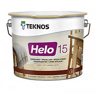 Teknos Helo 15 матовый, уретано-алкидный лак для дерева 9 л