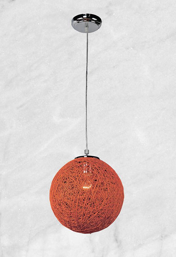 Плетённый оранжевый подвес
